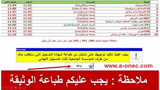استخراج شهادة التوجيه الجامعي 2021 www.orientation.esi.dz نتائج التوجيـه