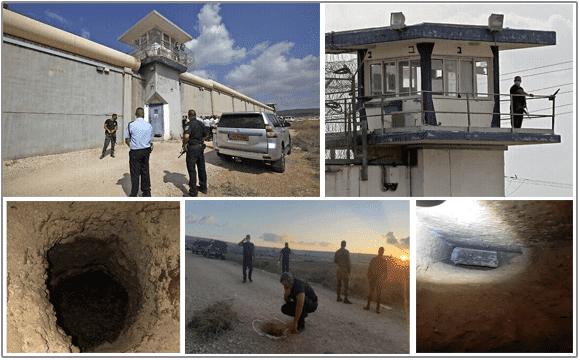 هروب سجناء فلسطينين من سجن جلبوع